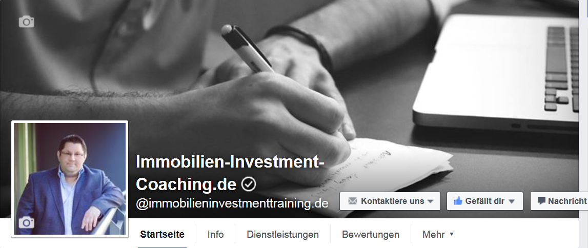 Facebook Fanseite Immobilien-Investment-Coaching
